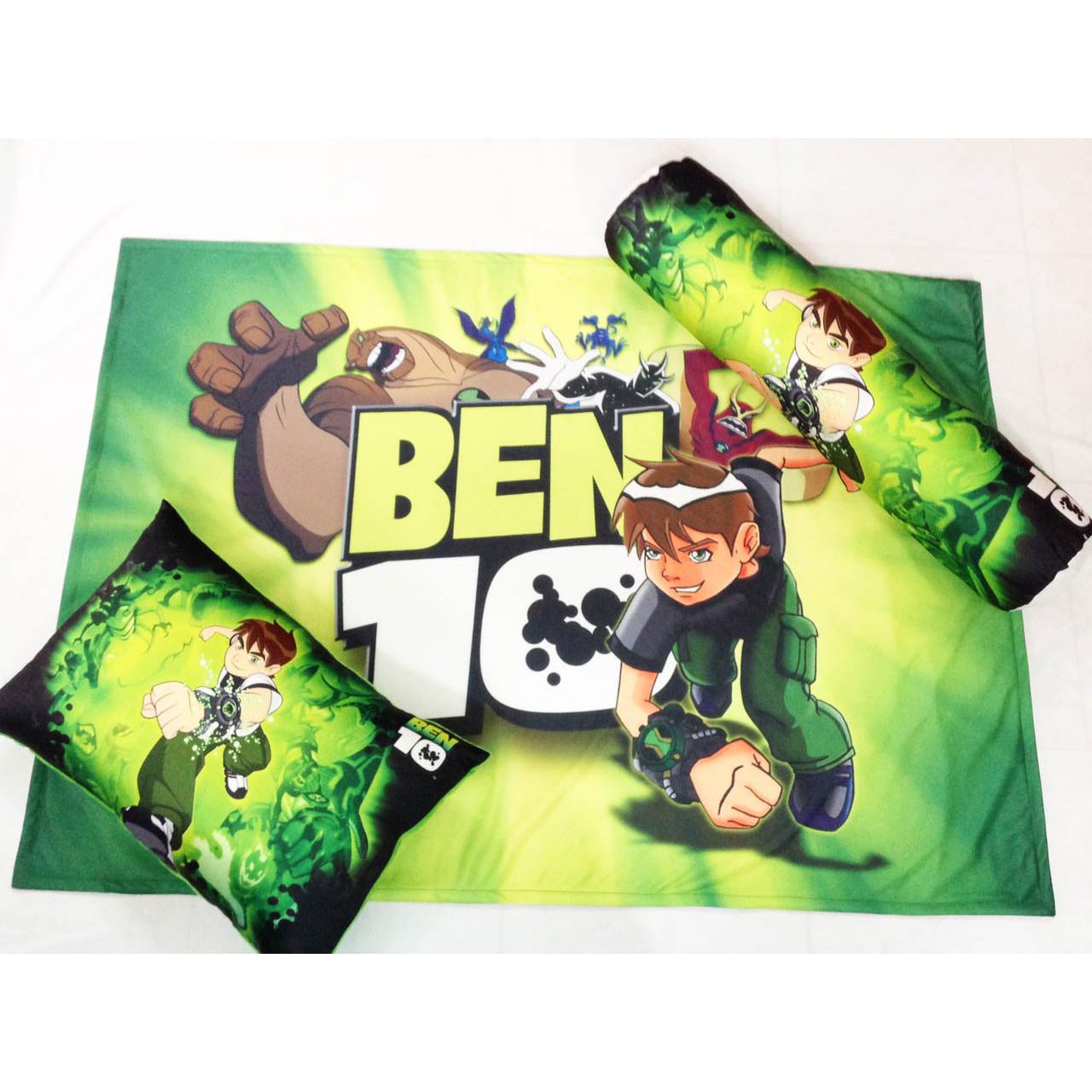 Bộ chăn gối hình Ben 10 cho bé 3 - 5 tuổi
