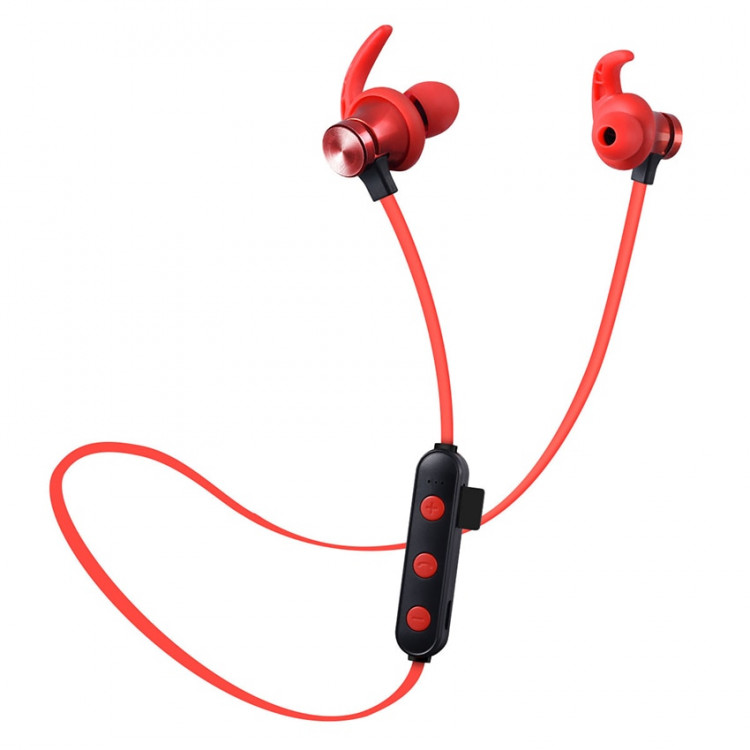 Aimitek XT-22 Magnetic Bluetooth Earbuds-red