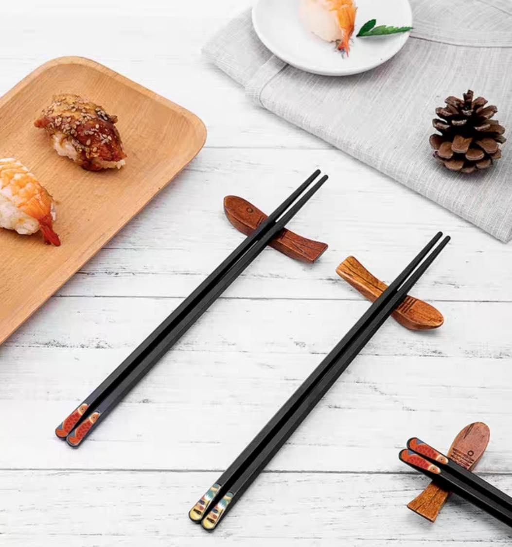 Set 5 đôi đũa sợi thủy tinh Chống Trơn Chống Nấm Mốc Cao Cấp phong cách Nhật Bản