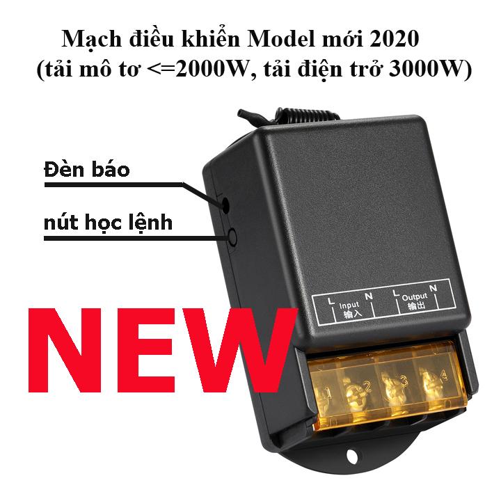 Công tắc điều khiển từ xa cho máy bơm nước máy rửa xe 100m/3000W/220V [MẪU MỚI NĂM 2020-2 TAY ĐIỀU KHIỂN]