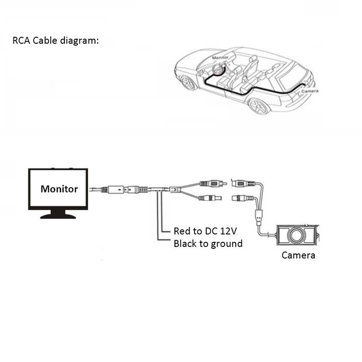 Camera lùi ô tô AHD độ nét cao dành cho màn hình Android dây tín hiệu dài 6m (Mã: TJ-HS-XG-GJ)