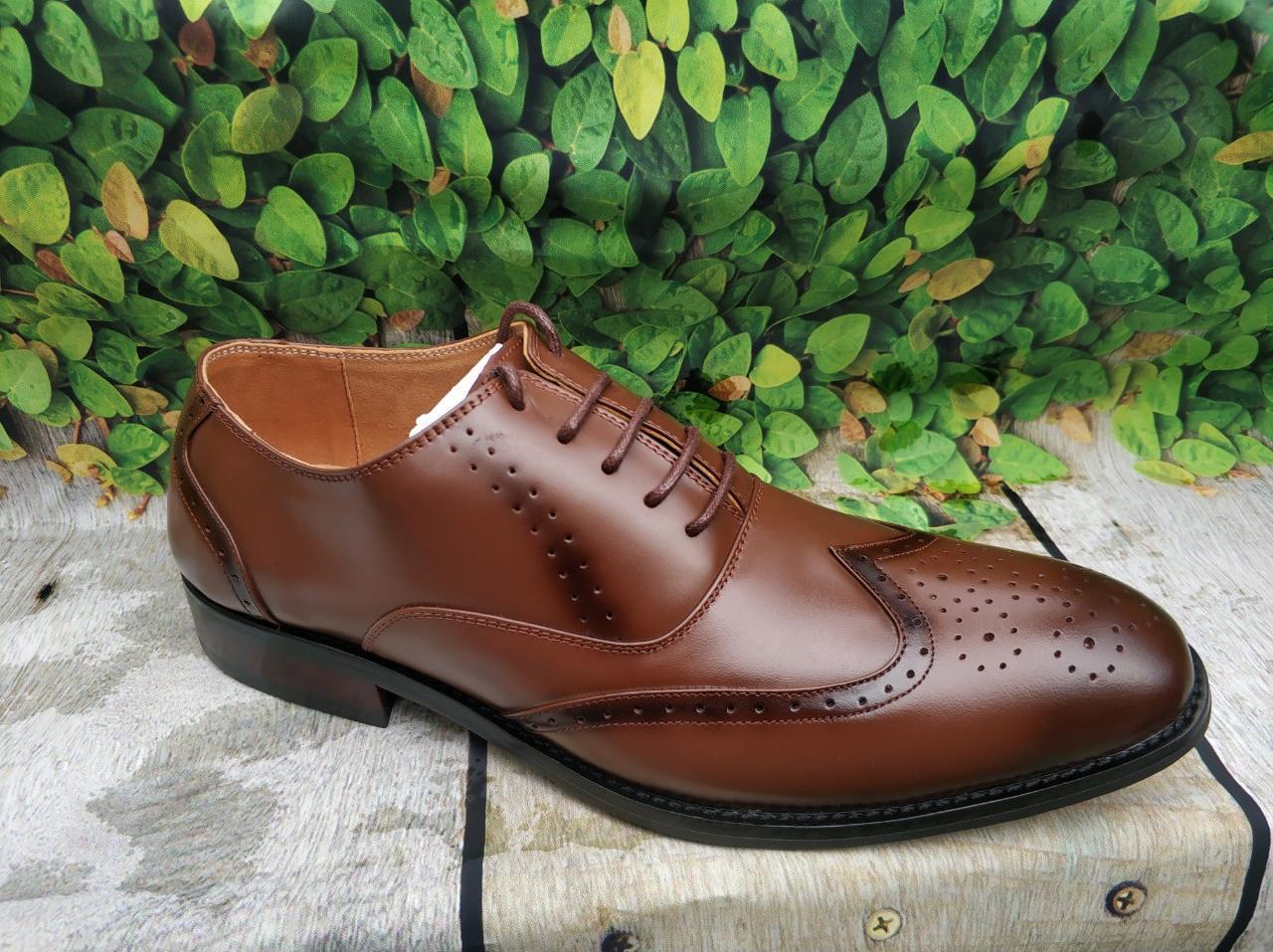 Giày da nam công sở sang trọng lịch lãm -gl51 - nâu nhạt - 43