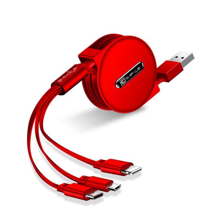 Bộ sạc điện thoại đa năng cao cấp 3 in 1 hàng nhập khẩu ( Màu Ngẫu Nhiên )