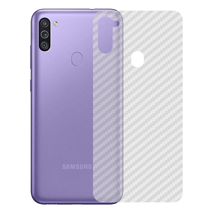 Miếng Dán Mặt Lưng Cacbon Dành Cho Samsung Galaxy M11- Handtown- Hàng Chính Hãng
