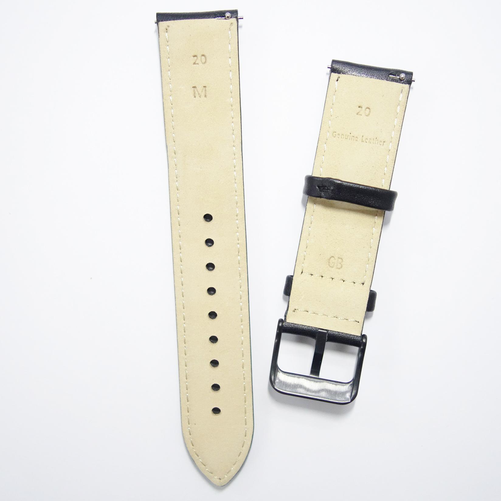 Dây da Size 20 cho Galaxy Watch 42, Gear Sport Xám