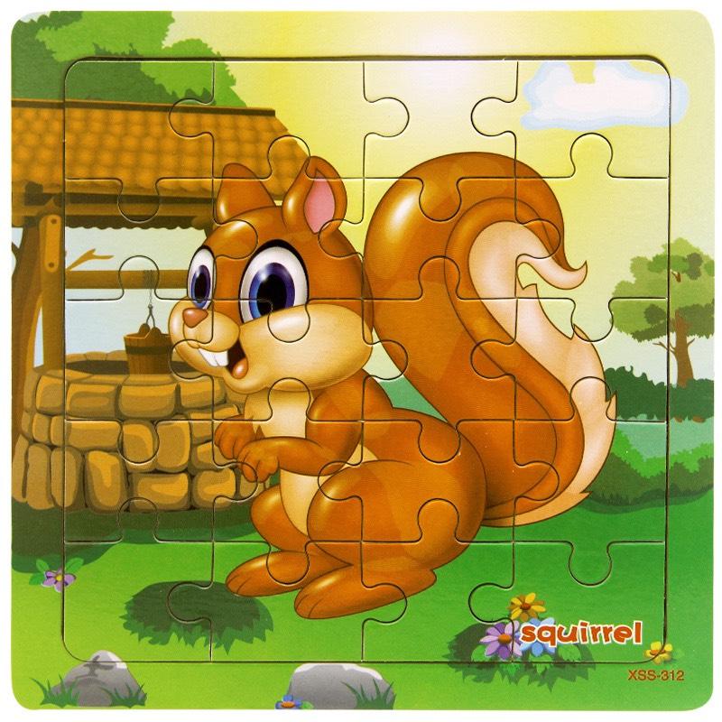 Đồ chơi trí tuệ bằng gỗ _ Combo 5 Tranh Ghép 20 miếng ghép MK0049- Tặng 1 Túi Zip Đựng Mảnh Ghép