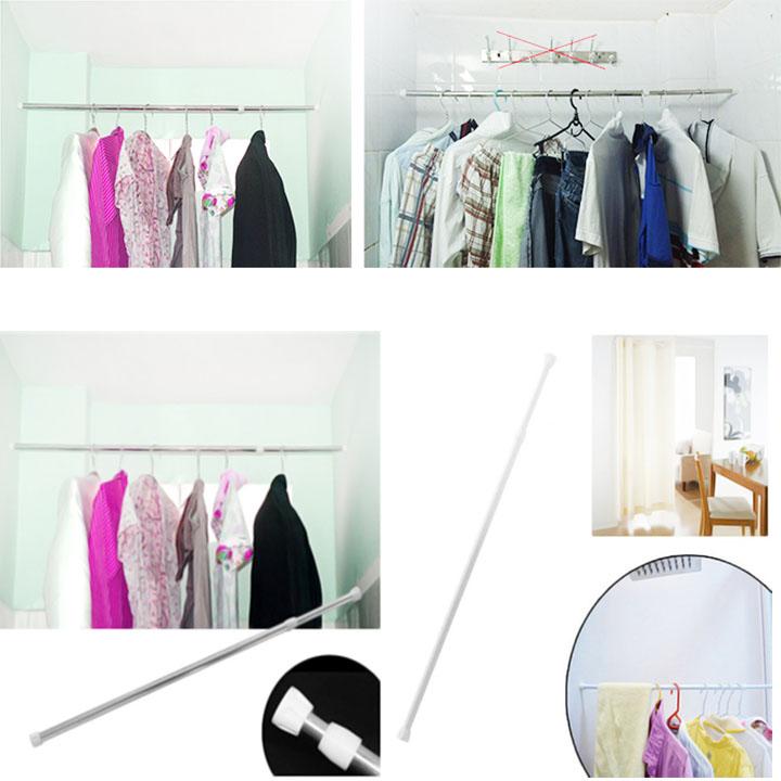 Thanh treo rèm inox co dãn đa năng (80cm-110cm)