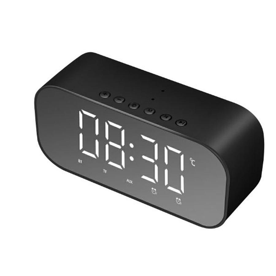 Loa Bluetooth Mini Cao Cấp S5 Hỗ Trợ USB Kiêm Đồng Hồ Báo Thức Và Gương Soi Tiện Lợi (màu ngẫu nhiên)