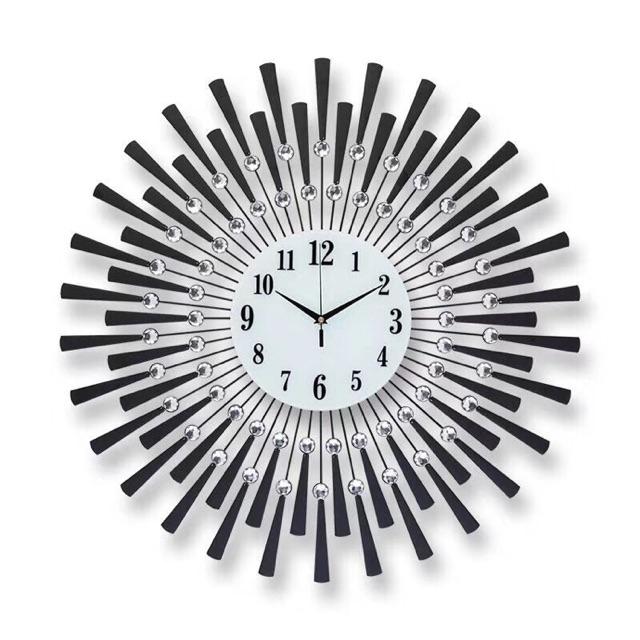Đồng hồ trang trí nghệ thuật treo tường mặt trời đen DH886