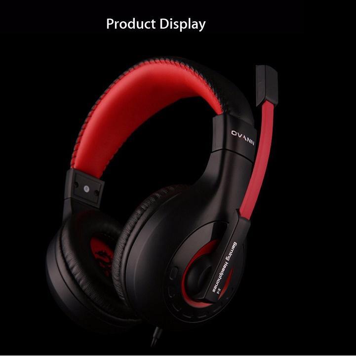 Tai nghe chụp tai Ovann X4 (Đen đỏ) - Hàng Nhập Khẩu