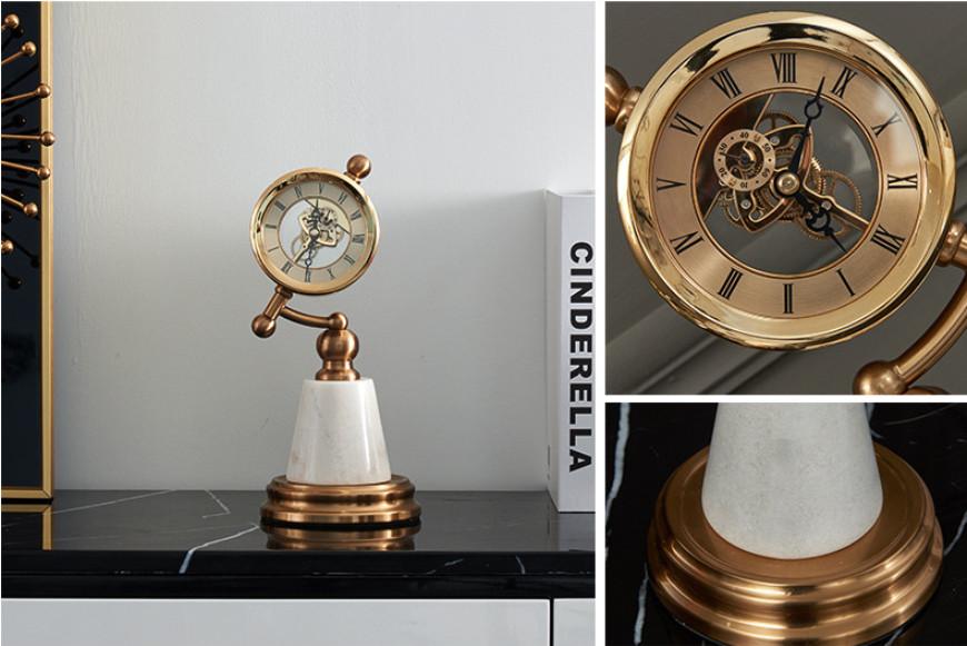 Đồng hồ để bàn Luxury Metal Table Clock