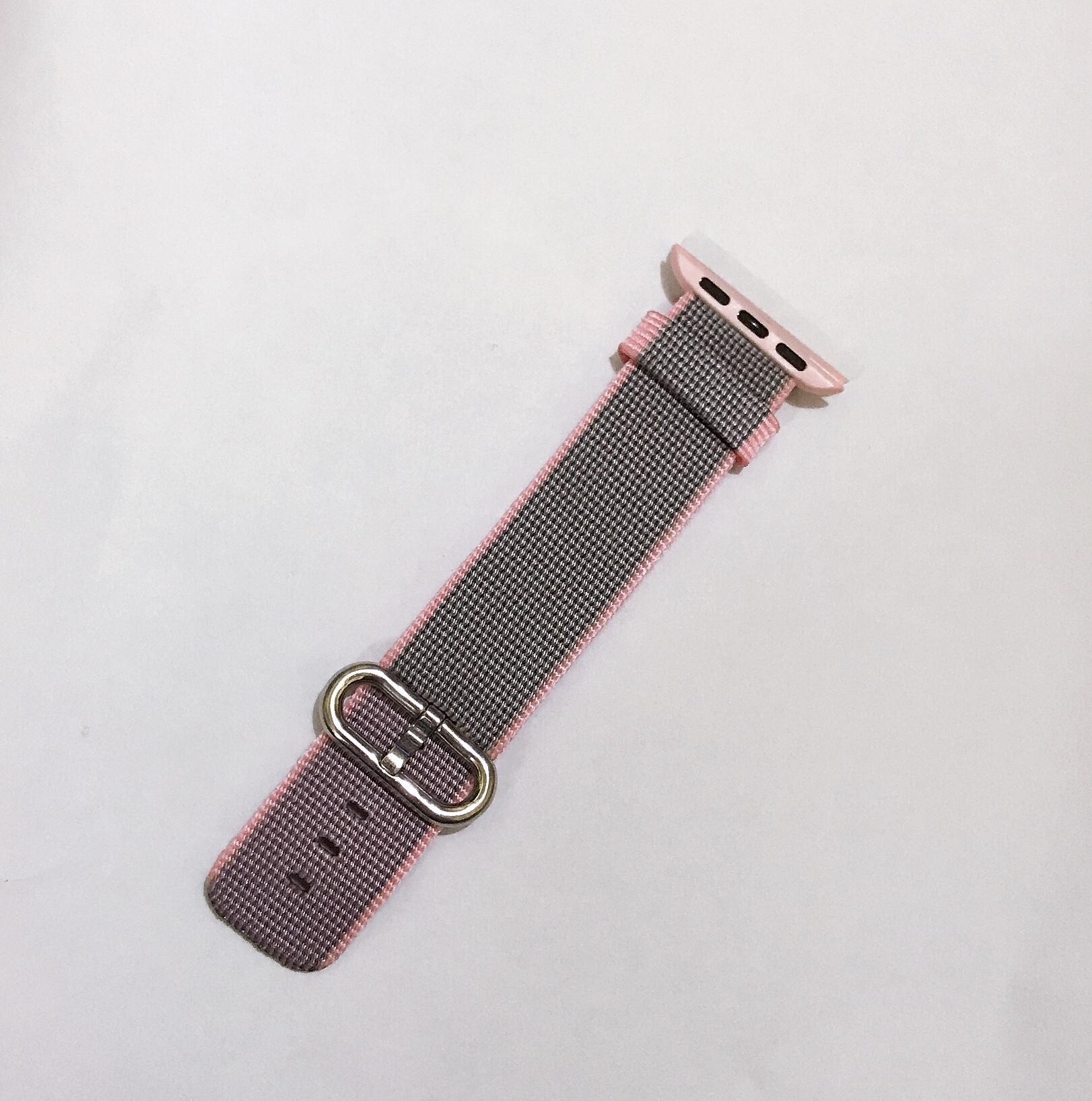 Dây đeo cho Apple Watch - Woven nylon - Xám Hồng 38mmmm
