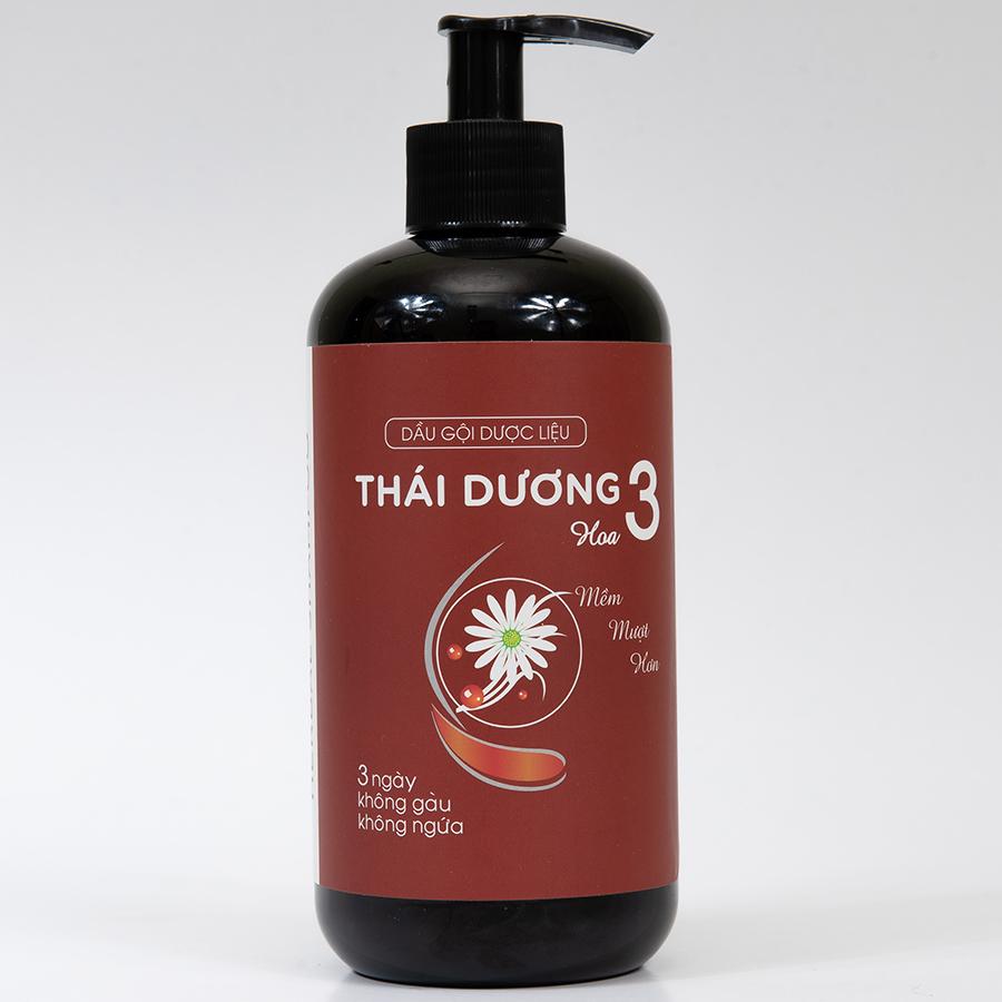 Dầu Gội Dược Liệu Thái Dương 3 Hương Hoa (480ml)
