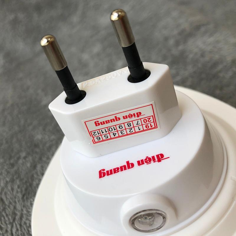 Đèn Ngủ LED Điện Quang ĐQ LNL01 WW (Cảm Biến Quang, Hình Trái Dâu, Ánh Sáng Vàng)