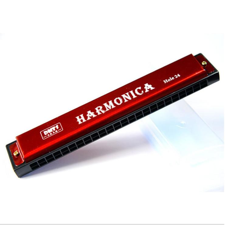 Kèn HARMONICA DMTS loại chuẩn 24 lỗ - Màu ngẫu nhiên