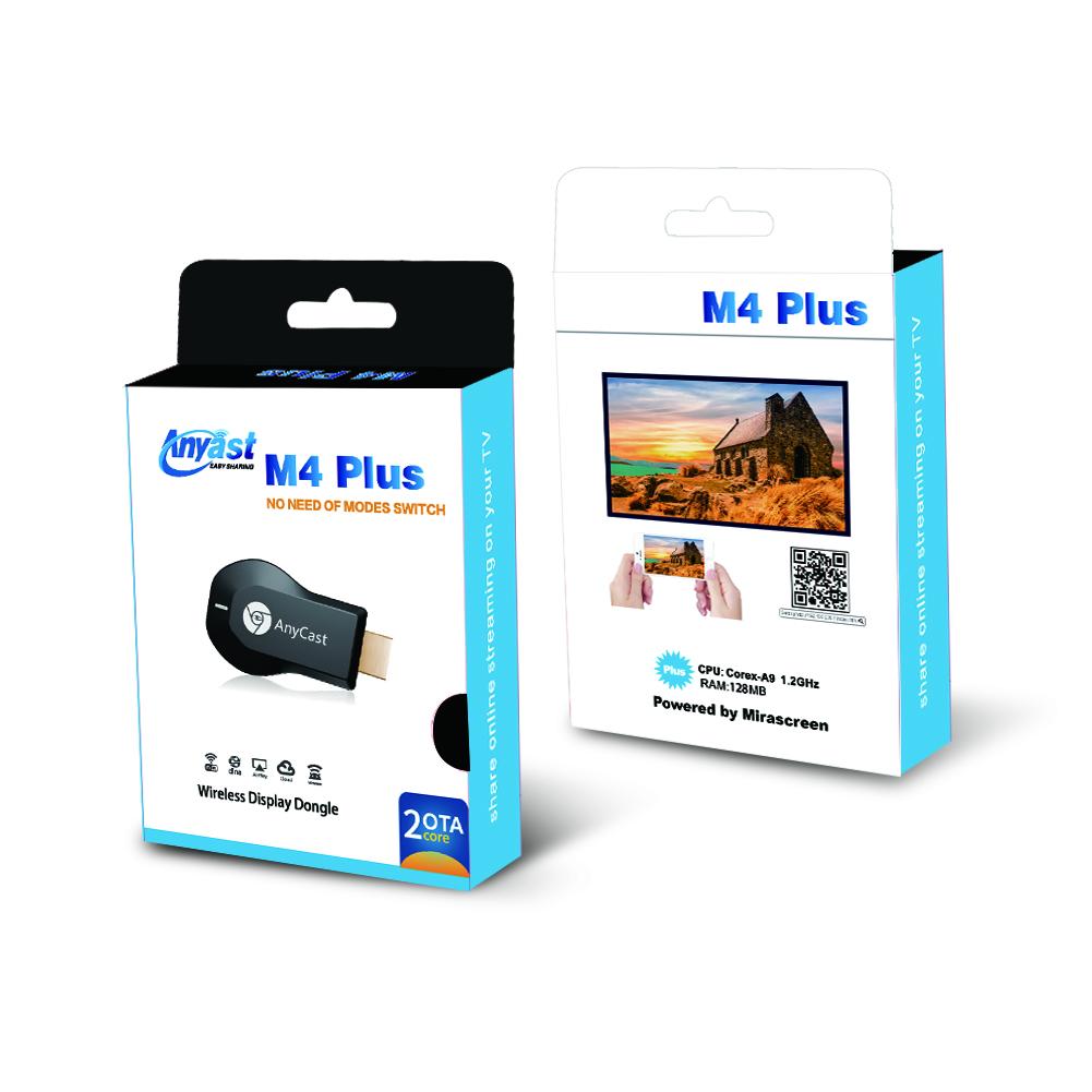 Thiết Bị Kết Nối Điện Thoại Với Tivi - HDMI Không Dây Anycast M4 Plus - Hàng Nhập Khẩu