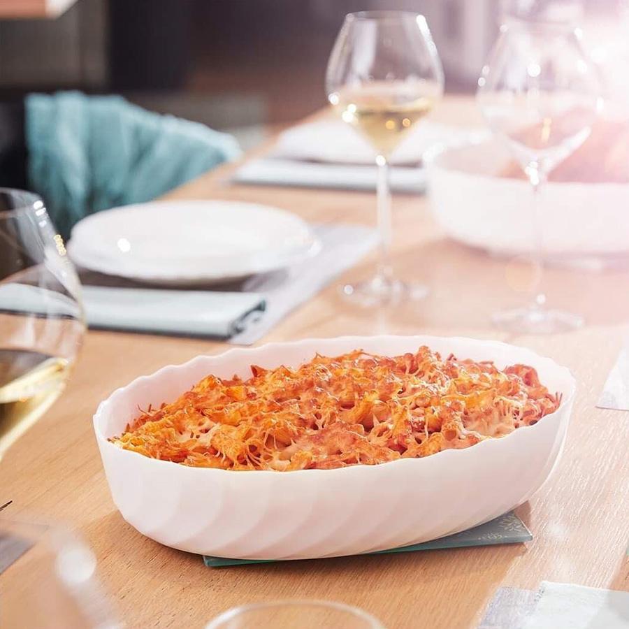 Khay Nướng Thủy Tinh Luminarc Smart Cuisine Trianon Oval