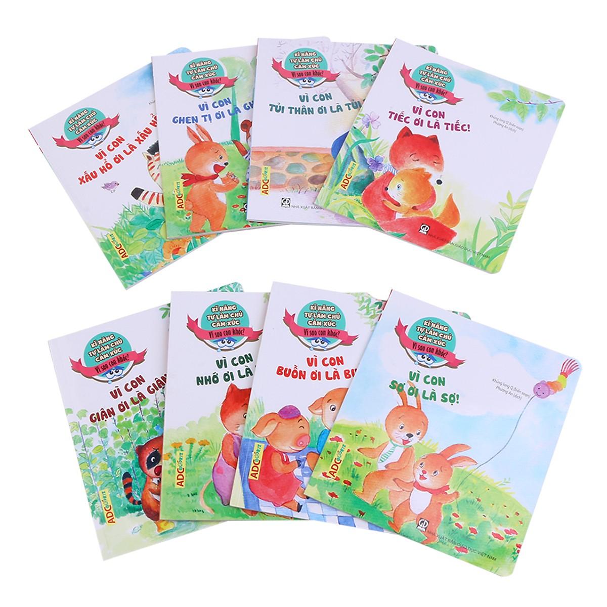 Sách thiếu nhi: Kỹ Năng Làm Chủ Cảm Xúc (Bộ 8 cuốn) - Tặng kèm poster An Toàn Cho Con Yêu