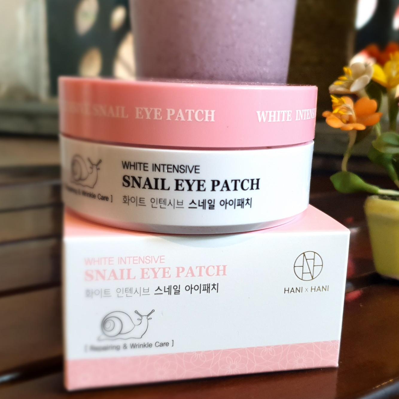 Mặt Nạ Ốc Sên Xóa Thâm Và Nếp Nhăn Vùng Mắt Hani x Hani/  Hani x Hani White Intensive Snail Eye Patch