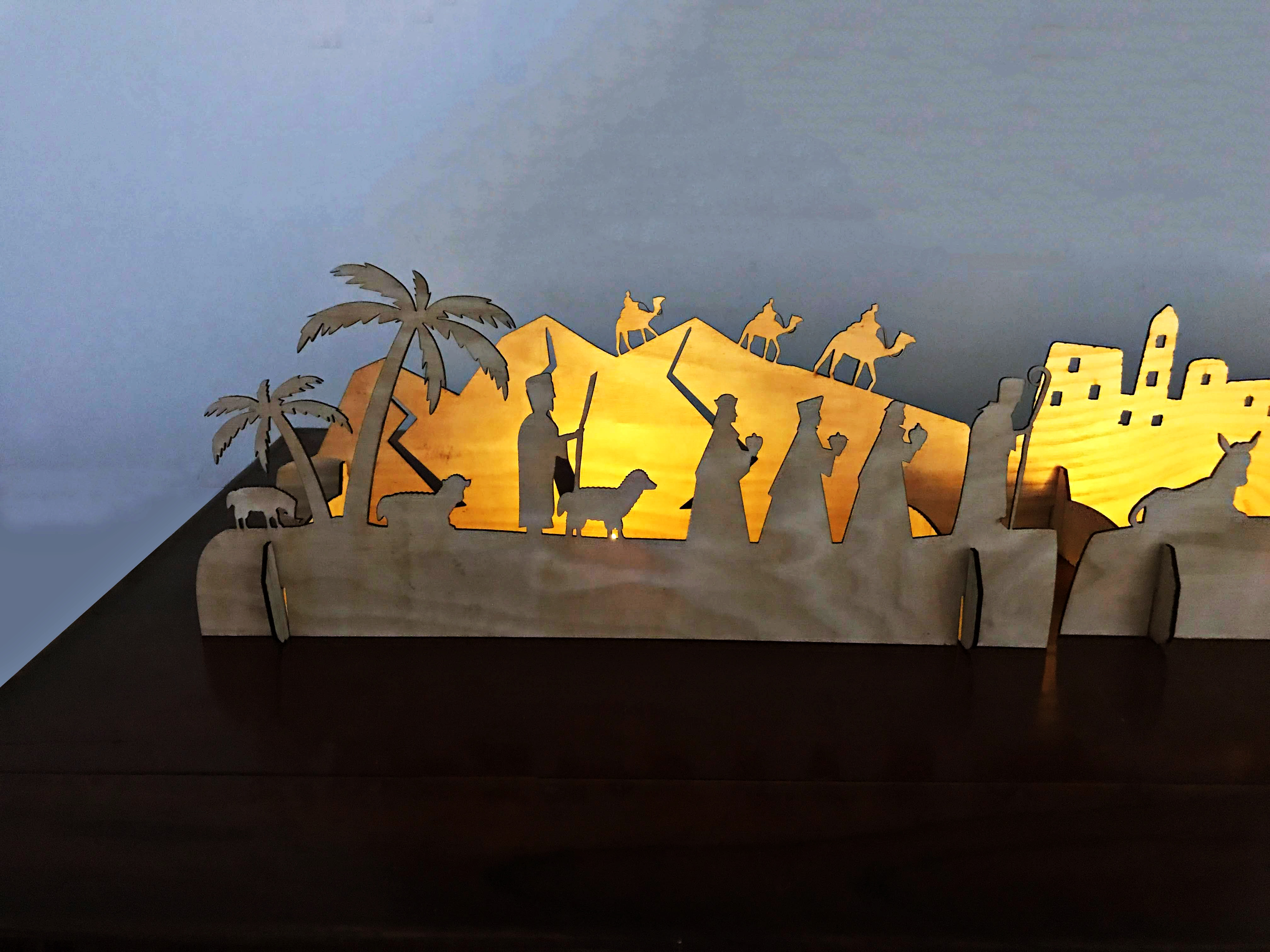 Bộ khung trang trí gỗ Giáng sinh Noel - Đêm Chúa Giáng Sinh
