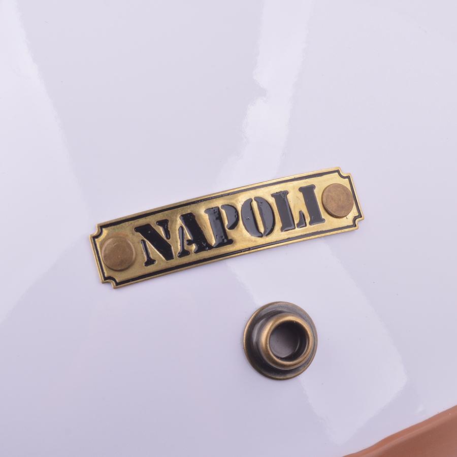 Mũ Bảo Hiểm 3/4 Đầu Napoli N099-TLN Trắng Lót Nâu