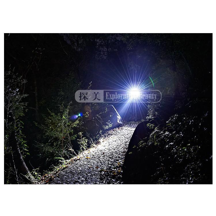 Đèn Pin Siêu Sáng, Đèn LED T6 Sạc Pin Chiếu Sáng Ngoài Trời, Vật Liệu Hợp Kim Chống Thấm Nước, Có 5 Chế Độ Sáng