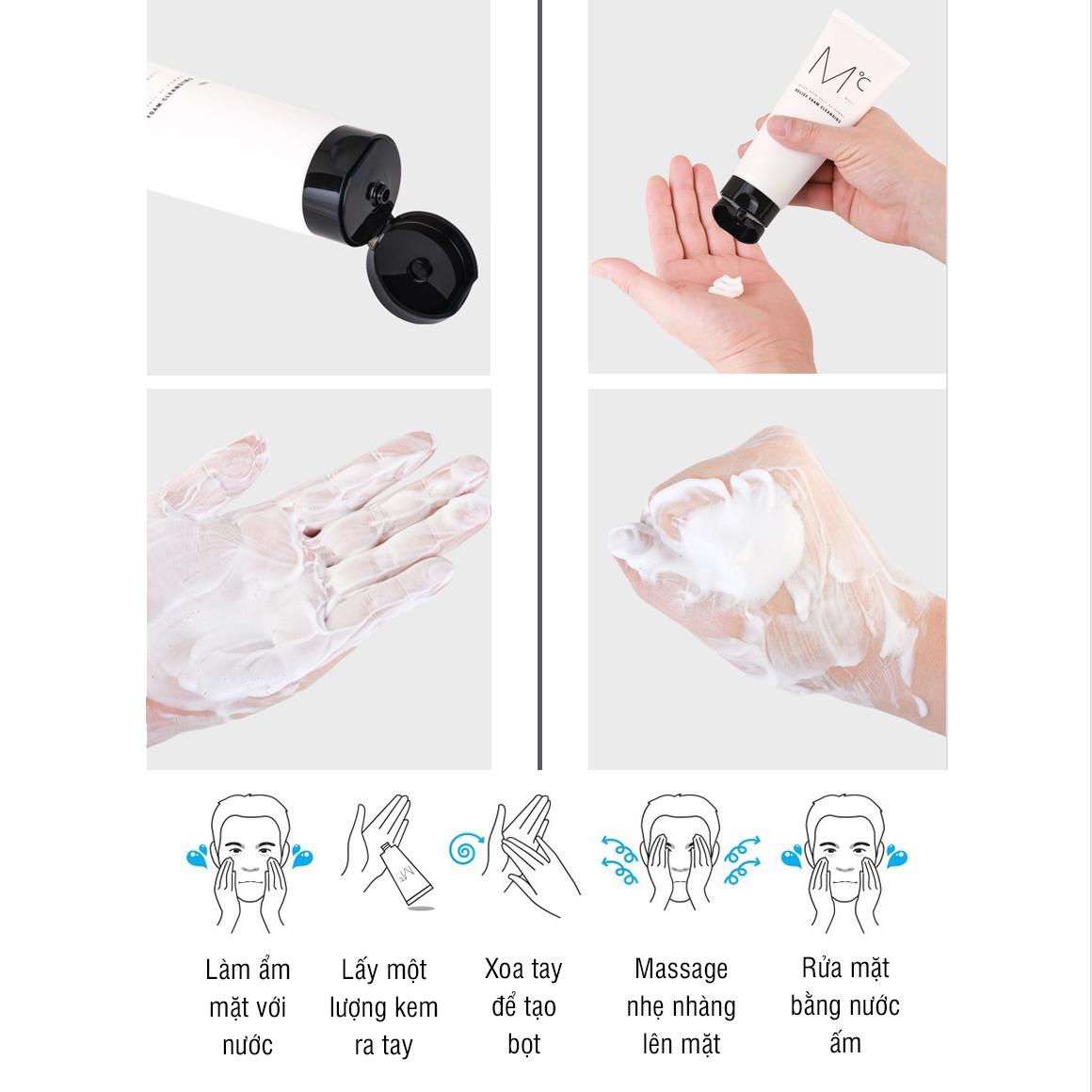 Bộ chăm sóc da 2 bước Sữa rửa mặt và toner kiềm dầu MdoC chính hãng Hàn Quốc JN-CSD03