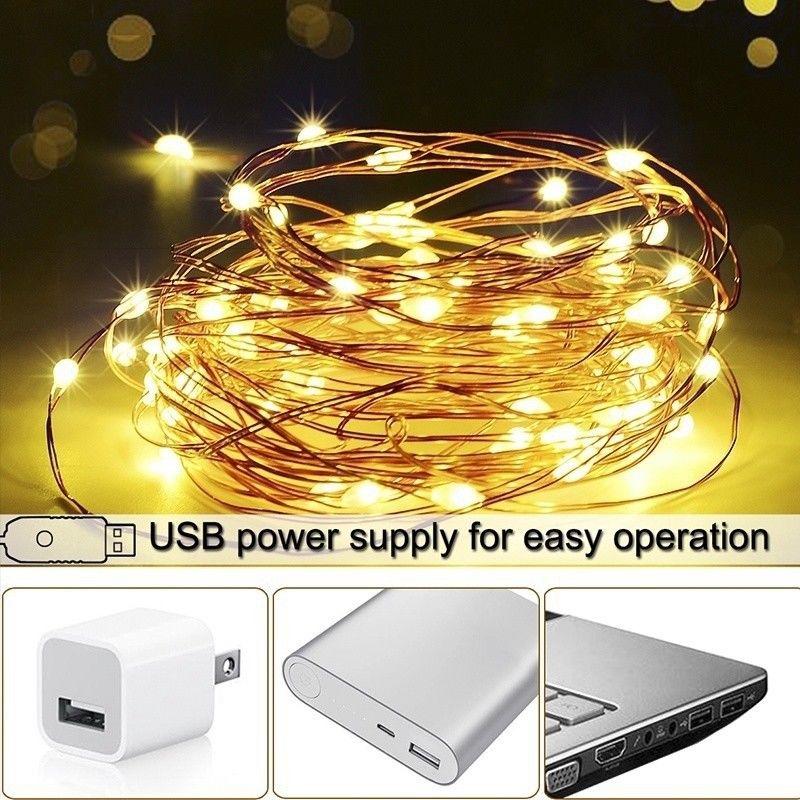 Dây đèn Led đom đóm Fairy Light dài 10 mét - Nguồn USB