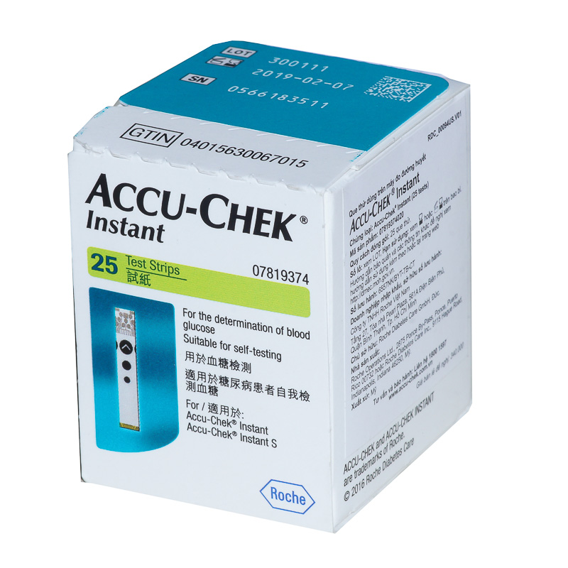 Que thử đường huyết Accuchek Instant 25 (hộp 25)