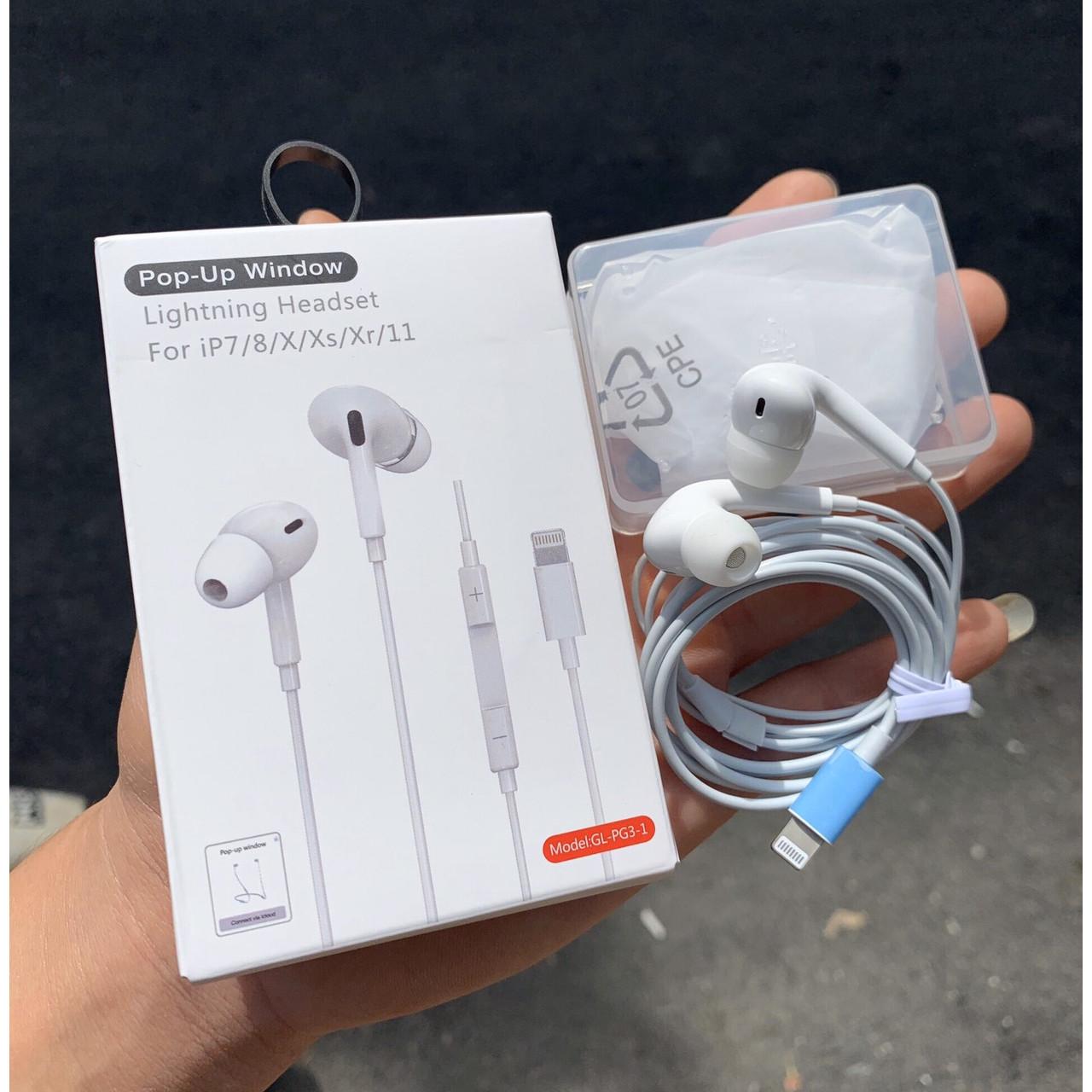 Tai Nghe Airpods Pro Có Dây Nhét Tai Dành Cho IPHONE 8/8Plus/X/Xs/11/11Pro - Kết Nối Bluetooth Tự Động