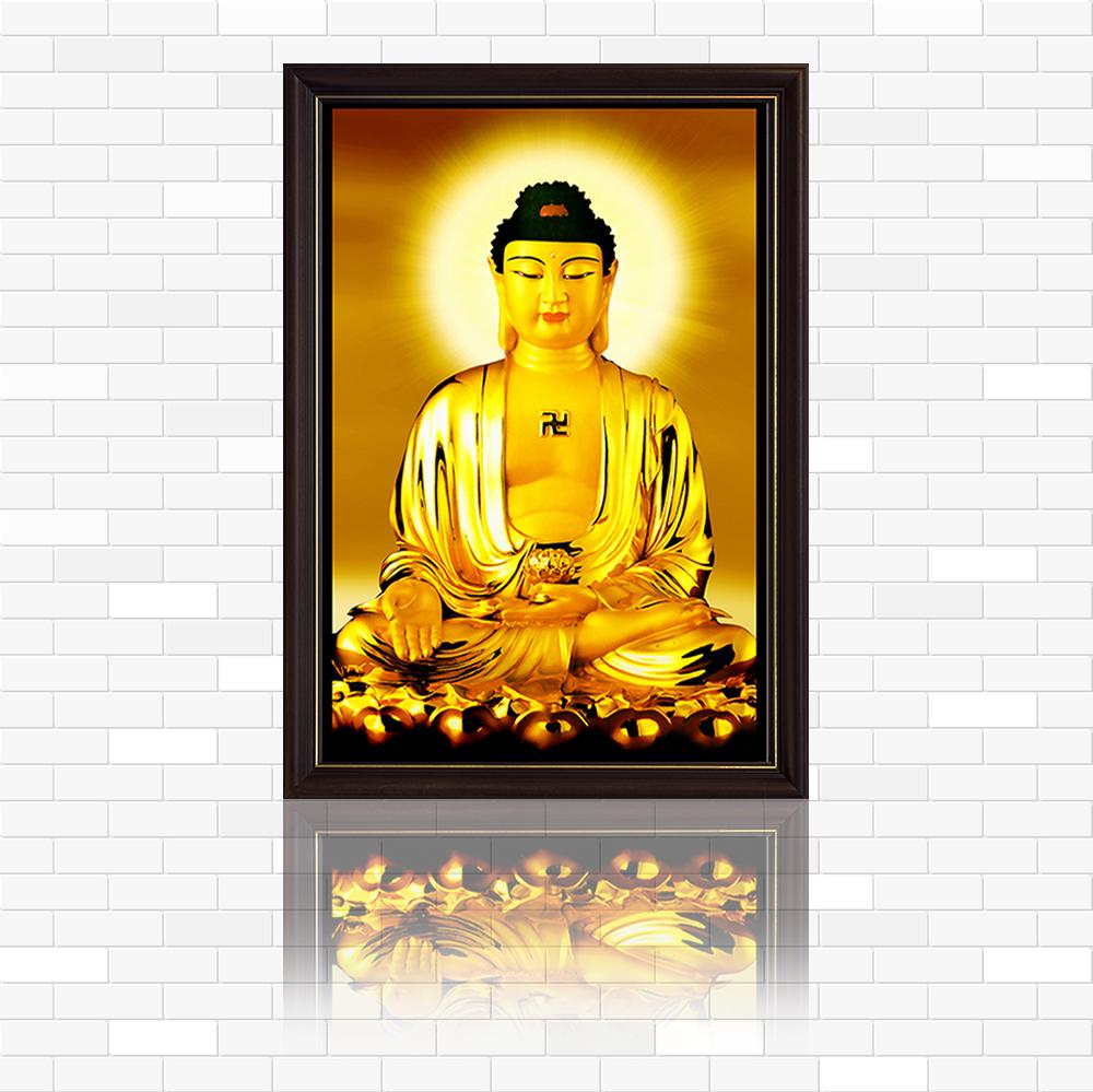 Tranh Điện Phật giáo  - Đức Phật A Di Đà Nhiều mẫu ,kích thước đa dạng,  kính cường lực cao cấp