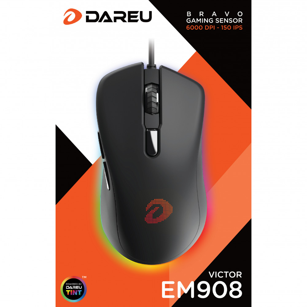 Chuột Gaming DAREU EM908 + Gaming mouse pad - Hàng chính hãng