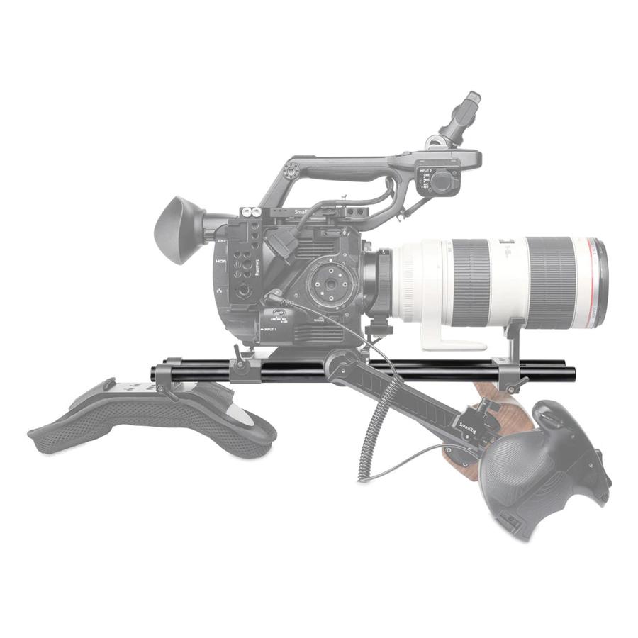 Phụ Kiện Quay Phim Smallrig 2 PCS 15mm Black Aluminum Alloy Rod (M12-40cm) 1054 - Hàng Chính Hãng