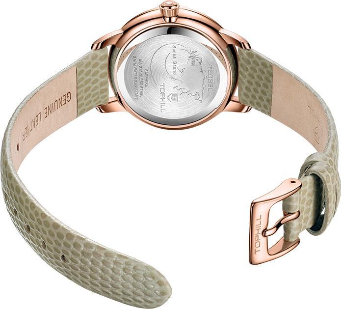 Đồng hồ nữ mặt xà cừ Thụy Sĩ TOPHILL TE036L.NS3237