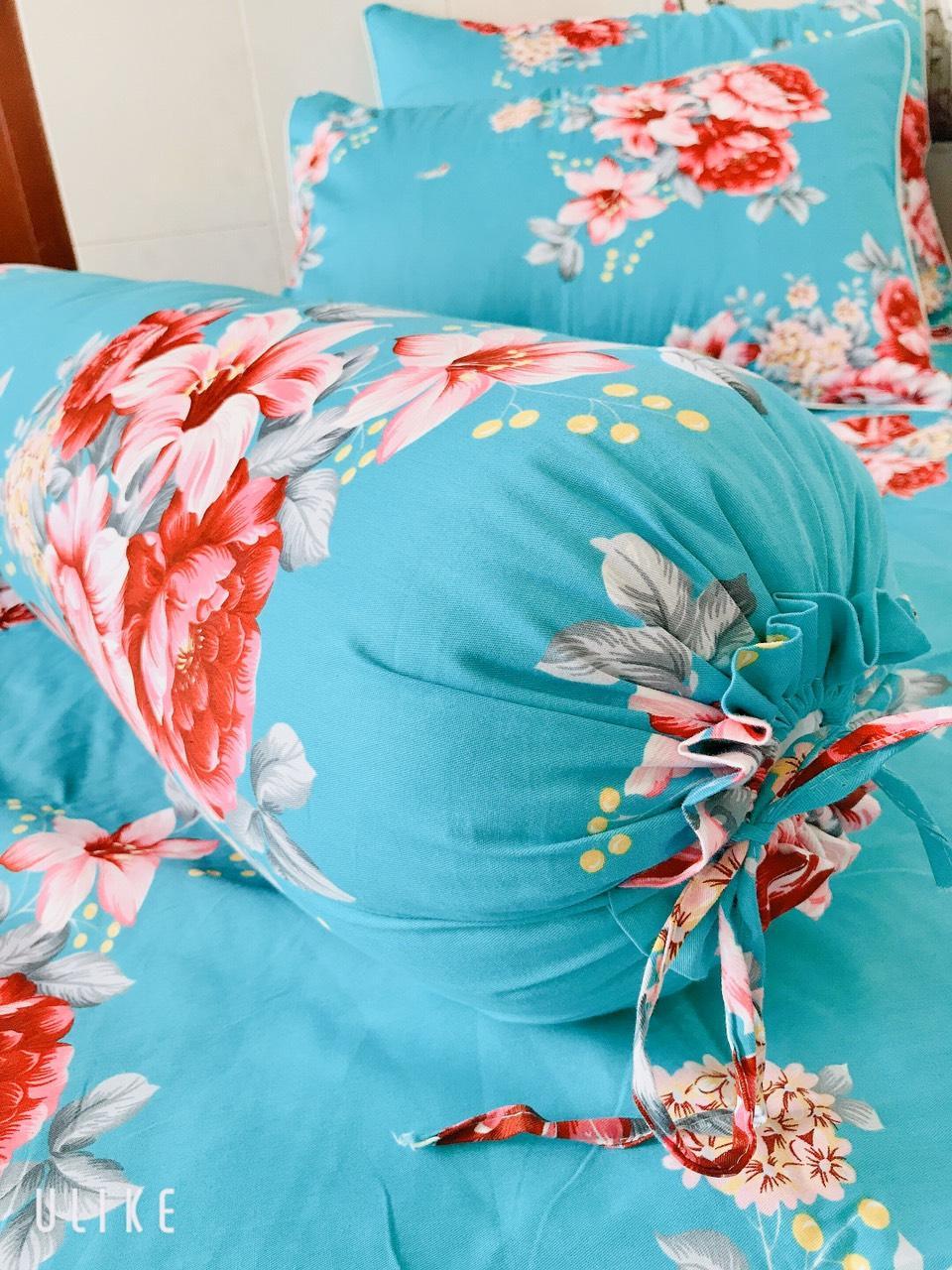 Áo Gối Ôm 35 x 100cm Cotton May Từ Vải Cotton Thắng Lợi Mẫu Hoa Nhiều Màu ( Giao màu sắc ngẫu nhiên )
