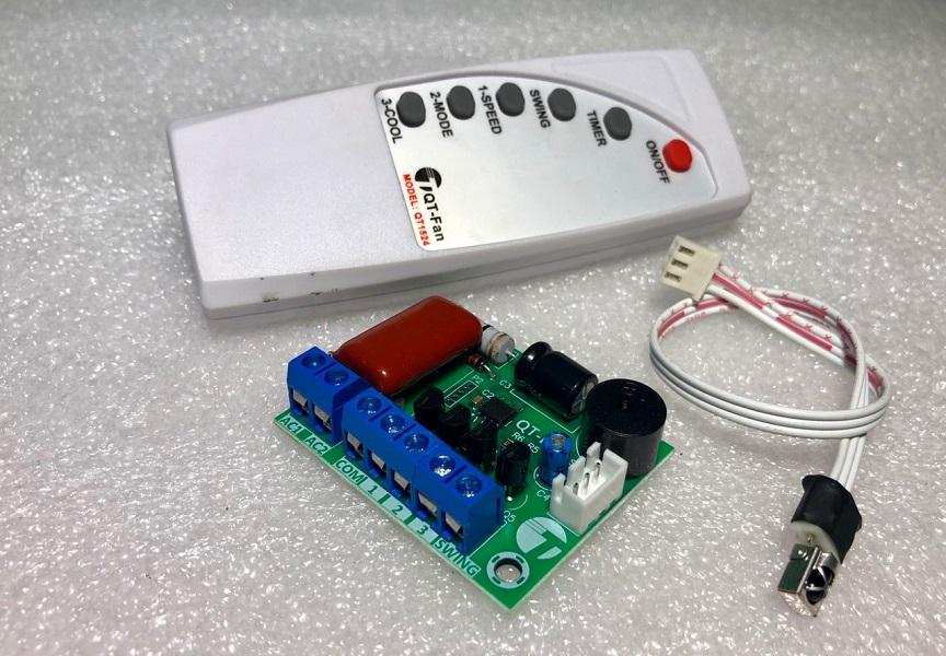 Mạch điều khiển quạt từ xa+ remote D00-415