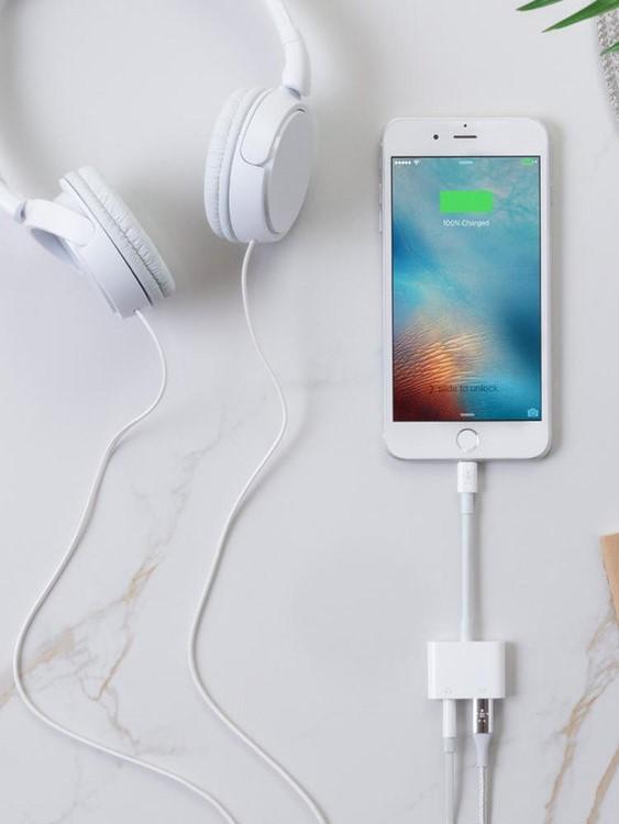 Cáp Chuyển Đổi Lightning Sang 2 Cổng Lightning (Sạc Và Tai Nghe ) Cho Iphone Ipad - Hàng Nhập Khẩu