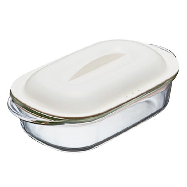 Hộp Đựng Thức Ăn Thủy Tinh L&L Easy Cook - Trắng