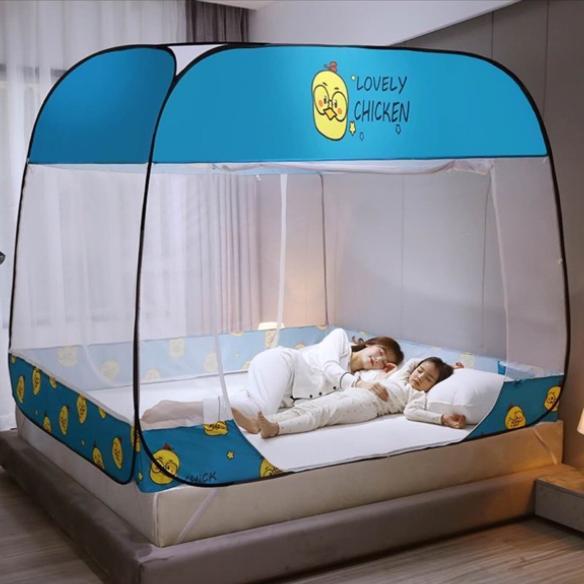 Màn ngủ tự bung gấp gọn, Mùng Chụp, Màn Chụp Tự Bung, Màn ngủ chống muỗi 1m8 x 2m, Dễ dàng tiện lợi, bền đẹp (Giao màu ngẫu nhiên)