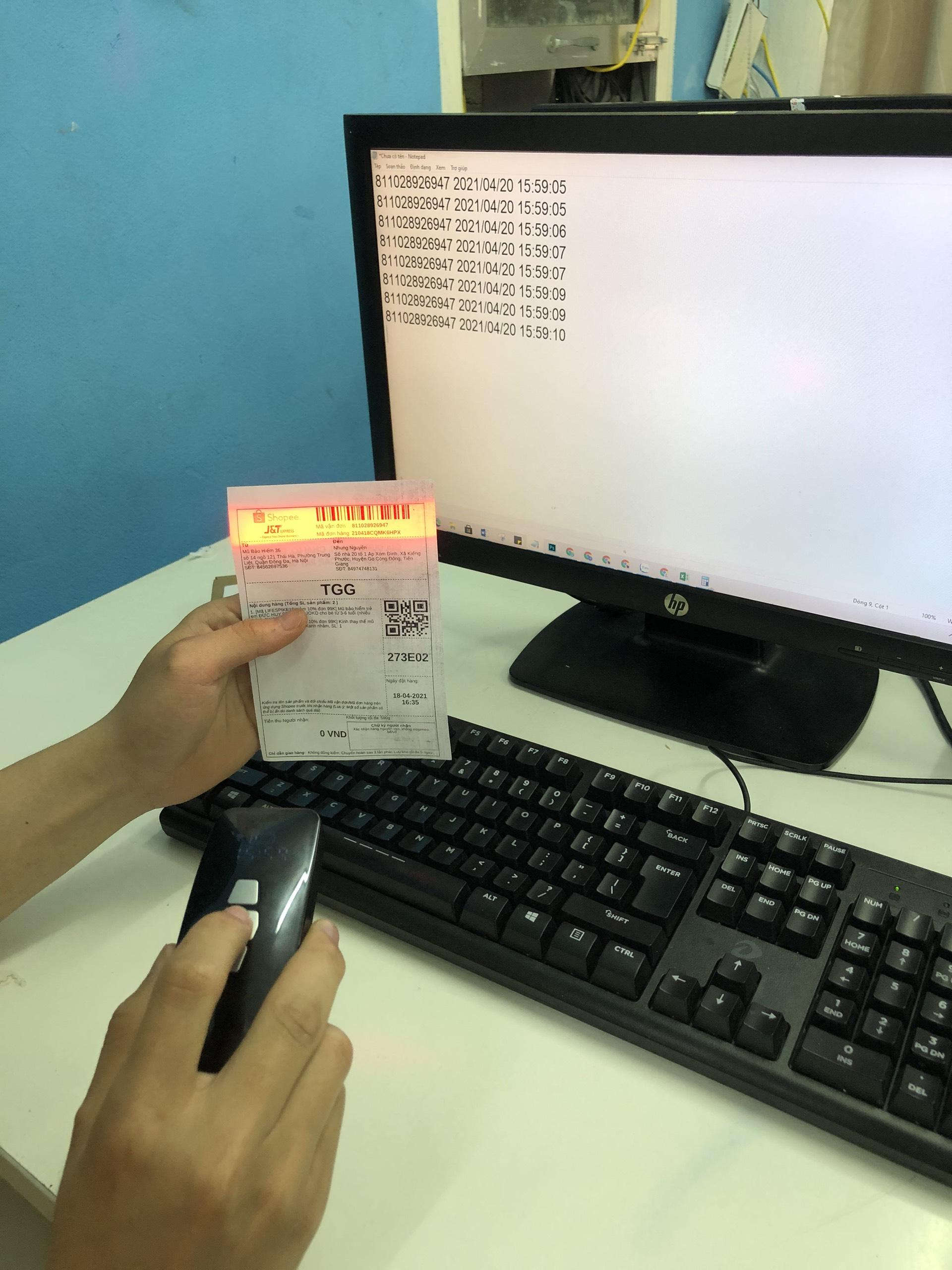 Máy quét mã vạch Mini YHD 3200CB kết nối Bluetooth/ USB/ Có dây hỗ trợ hiện thời gian quét mã vạch dùng trên Điện thoại, Máy tính - Hàng Nhập Khẩu