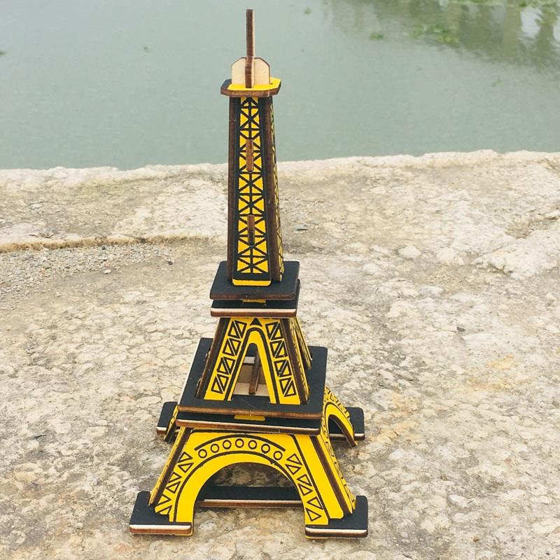Đồ chơi lắp ráp gỗ 3D Bộ 8 Mô hình Công trình Kiến trúc nổi tiếng