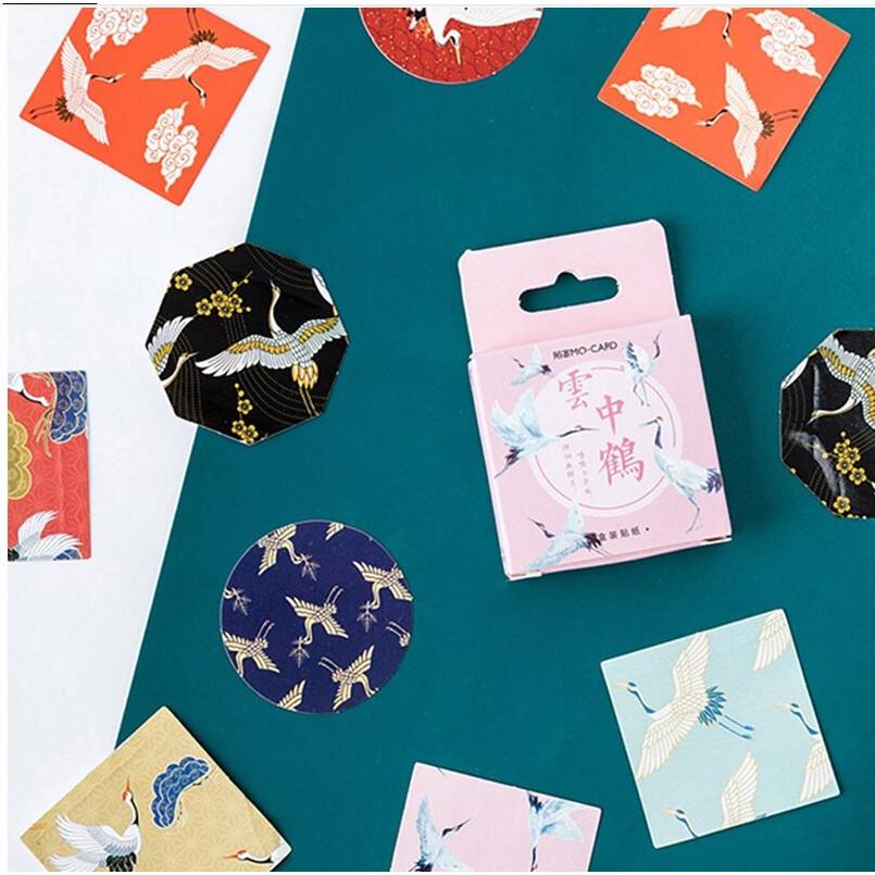 Hộp 45 Miếng Dán Sticker Trang Trí Cò Cổ Trang