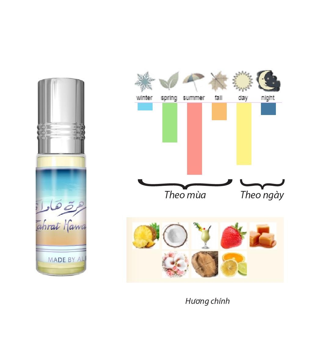 Tinh dầu nước hoa NỮ_ Zahrat Hawaii Al-Rehab (hàng chính hãng )