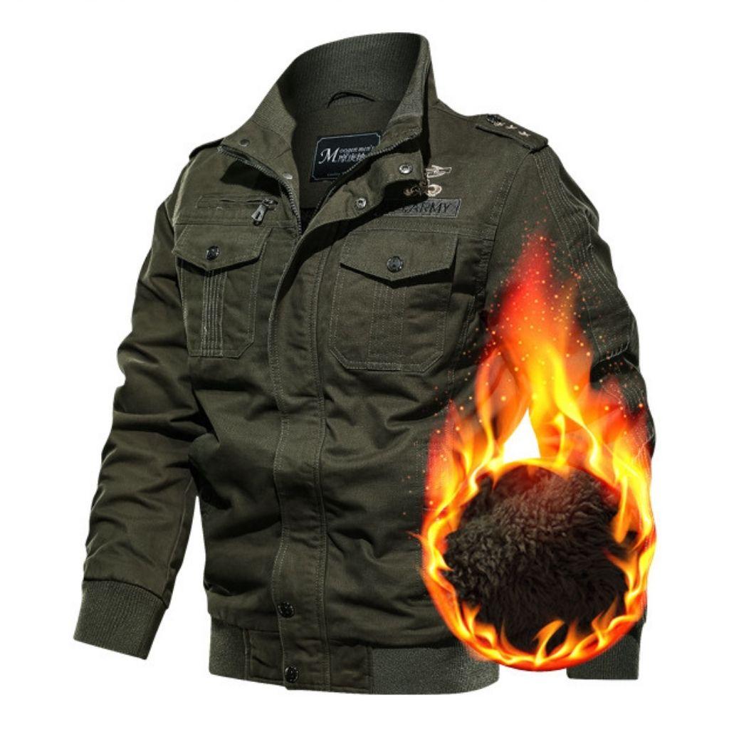 Áo Khoác Nam Kaki Lót Lông Siêu Ấm Thời Trang Lính