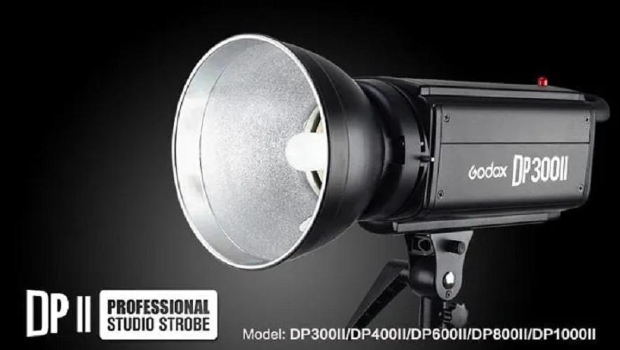 Bộ 3 đèn flash chụp ảnh Godox DP300II Hàng chính hãng,
