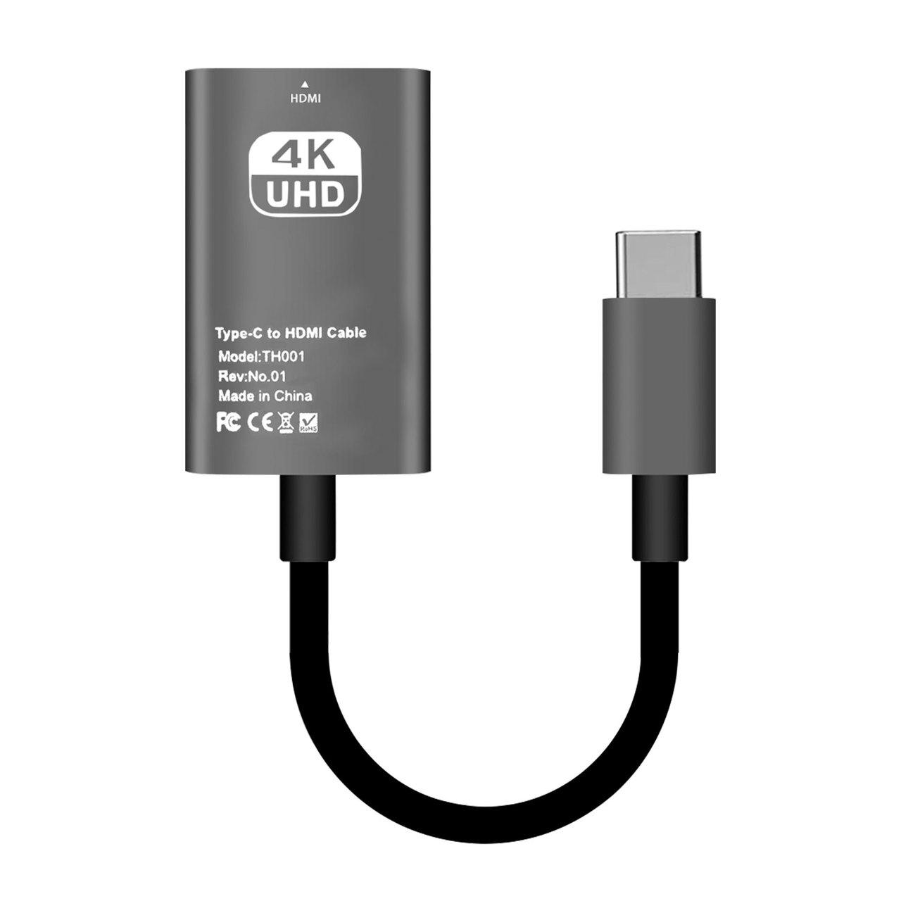 Cáp chuyển Type-c ra HDMI 4K cho Macbook, Surface, Dell XPS