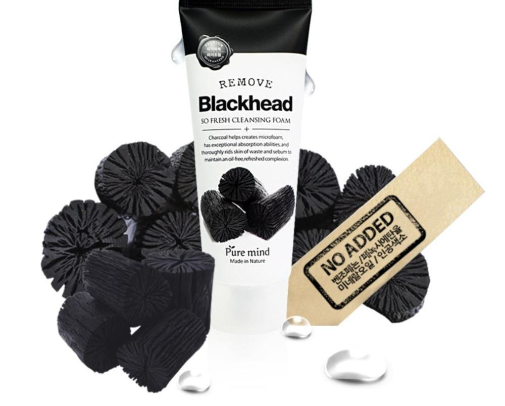 Sữa rửa mặt chiết xuất từ than hoạt tính - PURE MIND Blackhead So Fresh