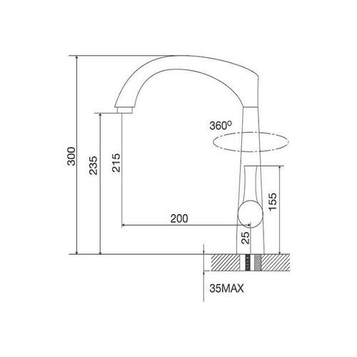 Vòi rửa bát nóng lạnh - k151t