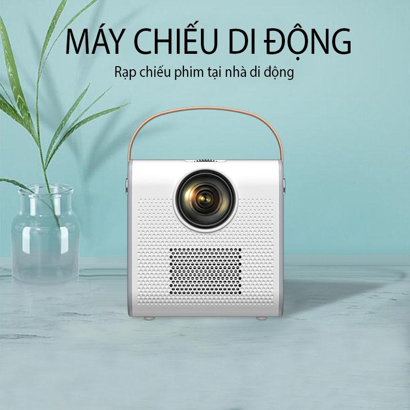 (Hỗ Trợ Tiếng Việt) Máy Chiếu Mini Siêu Nét Kết Nối Bluetooth Wifi Chạy Hệ Điều Hành Android S6 Cao Cấp
