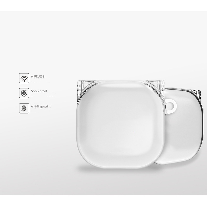 Ốp Case Tai Mèo Trong Suốt PC bảo vệ cho Samsung Galaxy Buds Pro